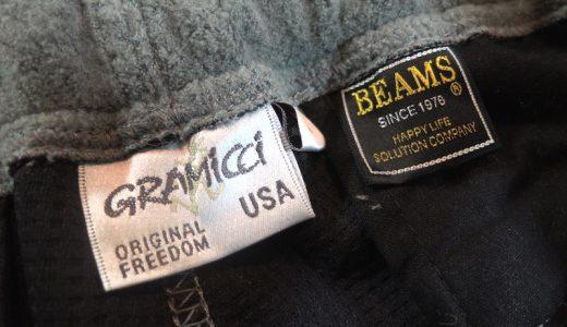 「GRAMICCI×BEAMS / 別注 フリースナローパンツ 15FW」を買った。