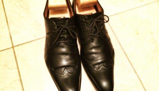 久しぶりに靴磨き。