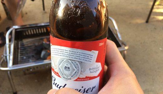 今年初BBQ。ビールもミスジも美味い。