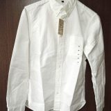無印良品のオーガニックコットンオックスフォードボタンダウンシャツを購入。